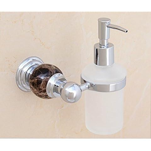 dispenser di sapone di cristallo in ottone dorato/lavello della cucina bottiglia dispenser di sapone a parete/Bagno disinfettante per le mani bottiglia/ciondolo in metallo in stile europeo-D