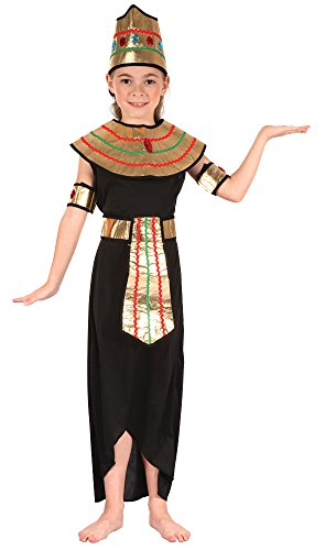Kinder Kostüme Cleopatra (Königin des Nils (Cleopatra) - Kinder-Kostüm - Medium - 122 bis)