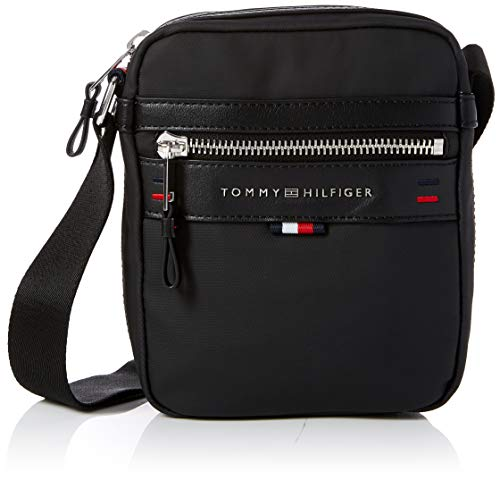 Tommy Hilfiger - Elevated Mini Reporter Cc, Shoppers y bolsos de hombro Hombre, Negro (Tommy Navy/Core Stp), 6x20.5x16.5 cm (B x H T)