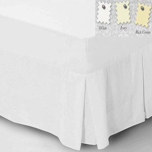 Charlotte Thomas Drap uni percale Luxueux Parure de lit Drap-housse/tour de lit, Ivoire – Taille Unique