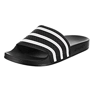 Adidas Adilette Unisex Slides Black/White Size 6 UK