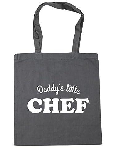 hippowarehouse Daddy's Little Chef Sac Shopping Gym Sac de plage 42cm x38cm, 10litres - gris - Taille unique
