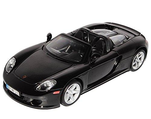 Porsche Carrera GT Cabrio Schwarz 1/24 Motormax Modellauto Modell Auto