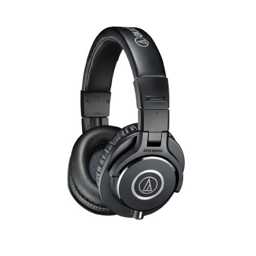אוזניות ! Audio-Technica ATH-M40X Professional Headphones - Black