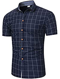 Cinnamou Polo para Hombre Manga Corta Moda Oveja Imprimir Contraste Collar Golf Camiseta de Solapa yjPRLy