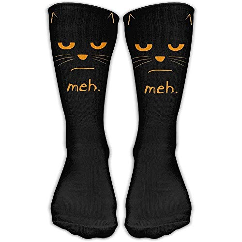 HVCMNVB Highly Elastic,Durable, Flexible,Unisex Halloween Cat Face Meh Casual Athletic Socks (Socke Affe Halloween)