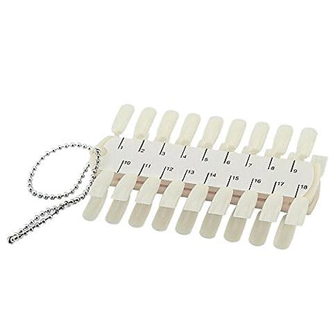 CRYSTALUM® Nail Art Display Stand 36 Tips Sticks Fan Dish