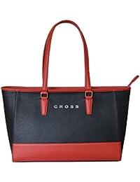Cross Women's P.U Horizontal Tote Bag - Valencia Range - Red/black(AC131078-1)