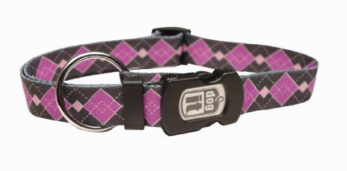 Argyle-snap (dogit Hagen Stil Argyle Large verstellbares Nylon-Halsband mit Kunststoff Snap und ID Platte)