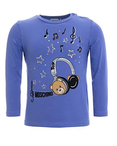 Moschino t-shirt da bimbo con stampa, 3 anni (98cm), bluette