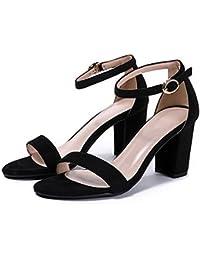 GTVERNH Primavera Arte Retro Solo Scarpe Scarpe Basse Matrimonio Scarpe Femmina Spesso Con 6Cm Scarpe Col Tacco Alto…