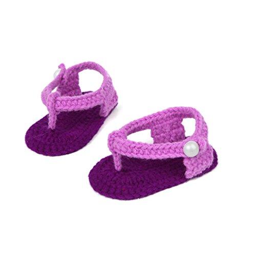 Ouneed® 0-1 ans Bebe Chaussures Premier Pas en tricot de laine 10 * 6,5 cm (B) E
