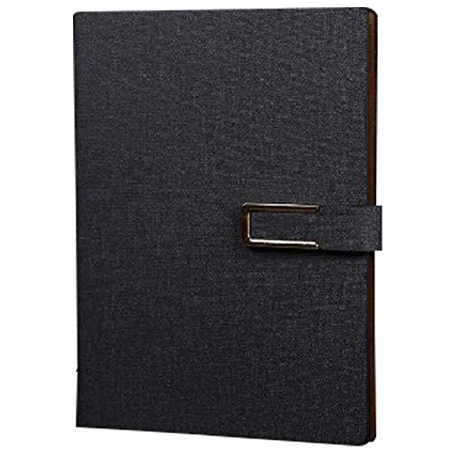 Alian Classic Notebook Journal Einfache PU-Leder Loose-Leaf-Notebook mit Innentasche und Schnalle Metallbinder Tagebuch für Business Office -