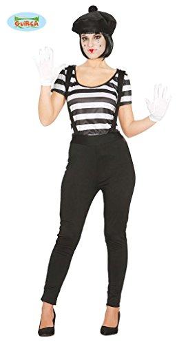 KOSTÜM - MIME - Größe 42/44 (L), Theater Variete Aufführungen Mienenspiel Miene Gesicht Clown Bewegungen (Mime Kostüme Für Frauen)