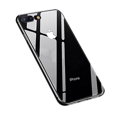 iPhone 8 Plus Hülle,iPhone 7 Plus Hülle,Yica Dünn Crystal Clear Transparent Handyhülle Cover Soft Premium-TPU Durchsichtige Schutzhülle Backcover Slimcase für iPhone 8/7 Plus