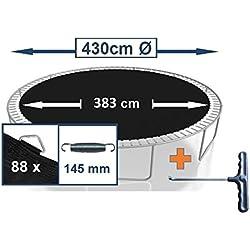 awshop24 Tapis de Saut pour Trampoline Ø 430 cm 88 œillets (Ressorts 14,5 cm)