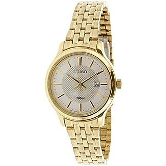Seiko Neo SUR646P1 – Reloj analógico de Cuarzo para Mujer con Pulsera de Acero Inoxidable chapada en Oro