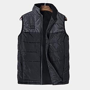 Slimerence Elektrische Heizweste, USB Lade Warme Beheizte Weste Jacke Waschbare Beheizte Kleidung mit Einstellbare Temperatur für Männer Camping Outdoor Wandern
