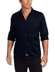 DICKIES, Long Sleeve Slim Work Shirt - Camisa de manga larga para hombre