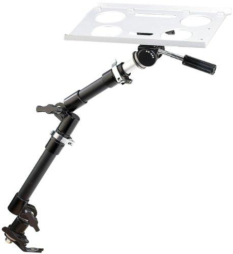 Lescars Laptop Halterung: Universal-Notebook-Kfz-Halterung mit Kamerastativ (Laptop Halter Auto) (Auto Laptop Halter)