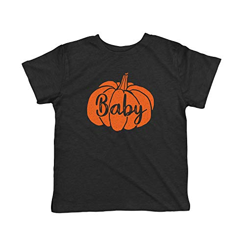 Crazy Dog Tshirts - Toddler Baby Pumpkin Tshirt Funny Family Halloween Tee (Heather Black) - 5T - Baby-Jungen - 5T -