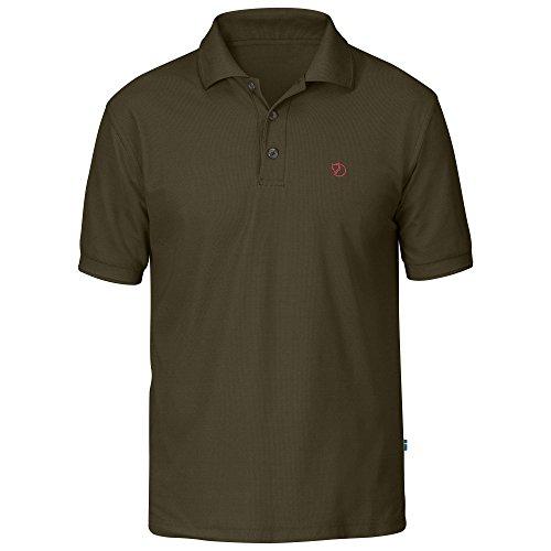 Fjällräven Herren T-shirt Crowley Pique Dark Olive, XXL