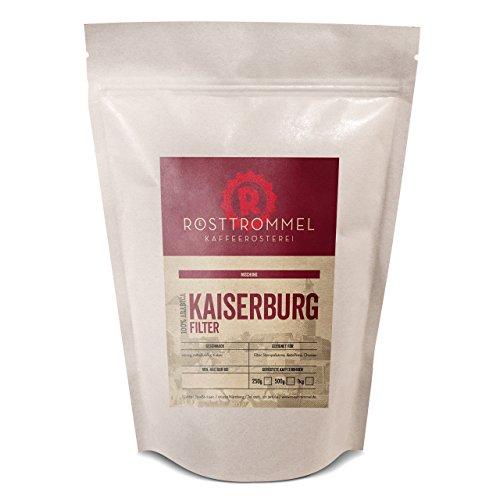 Kaffeebohnen KAISERBURG - Rösterei des Jahres 2017 - Kakaonote, mittelkräftig, würzig - handgeröstete ganze Kaffee Bohnen für Vollautomat French-Press Filter Aero-Press - Premium