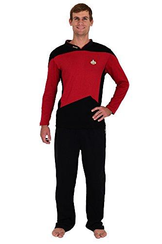 Robe Factory Star Trek The Next Generation STNG Command Uniform Pajamas Set