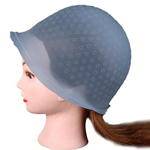 Chapeau de teinture de cheveux, ToamenSalon Coloration des CheveuxCapuchon de teinture en Surbrillance Gel de silice Réutilisable Professionnel 1Pcs
