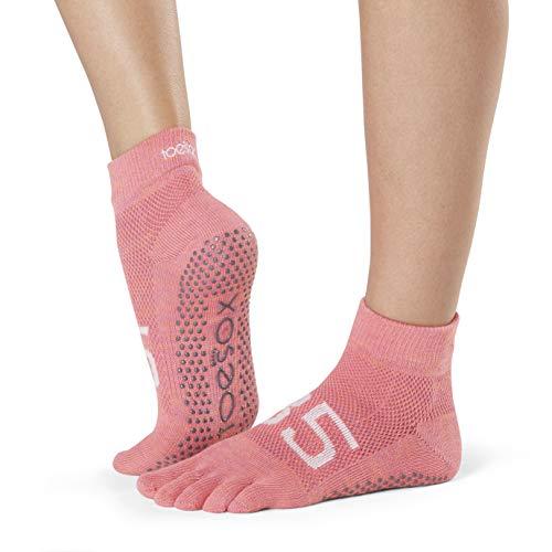 Toesox Damen Grip Pilates Barre Socks-Non Slip Ankle Full Toe for Yoga & Ballet, Ace, Größe S (Yoga-american Apparel)