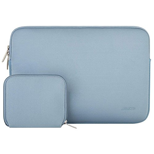 MOSISO Wasserresistente Lycra Hülle Sleeve Tasche für 13-13,3 Zoll MacBook Pro, MacBook Air, Notebook Computer Laptophülle Schutzhülle Laptoptasche Notebooktasche mit Kleinen Fall, Air Blau
