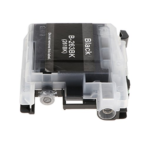 Homyl ABS Tinten Patrone Kit Lc263 Ersatz Druckerpatrone Tinte für BROTHER DCP-J562DW,MFC-J480DW, MFC-J680DW, MFC-J880DW (Schwarz) (In One Multifunktions-maschine All)