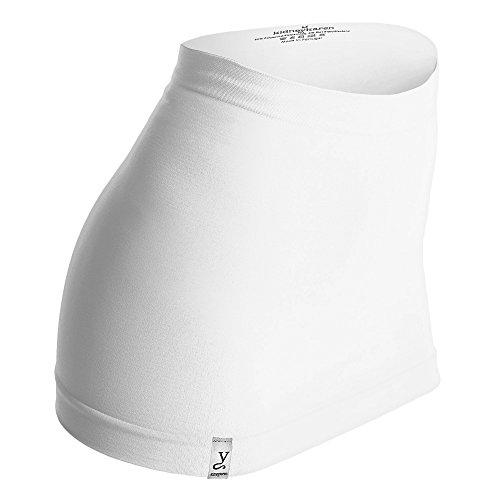 Kidneykaren Nierenwärmer Basic- Tube Multifunktion Yogagurt Fitness & Freizeit weiß + giftcard, Größe:XS