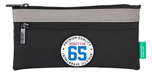 Benetton – Portatodo 2 cremalleras, color negro (Safta 811606029)