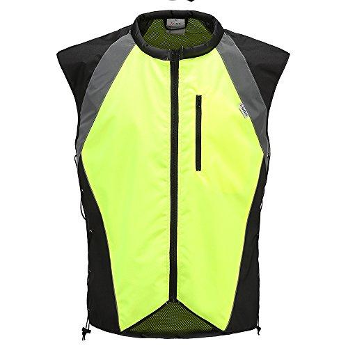 AYKRM Motorrad Warnweste Sicherheitsweste Motorrad Quad Neon Weste (gelb, M)