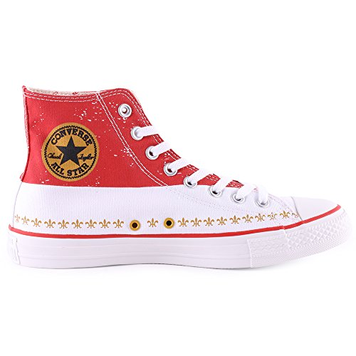 Converse - All Star Prem Hi Warhol, Sneaker alte Unisex – Adulto Rosso/Bianco