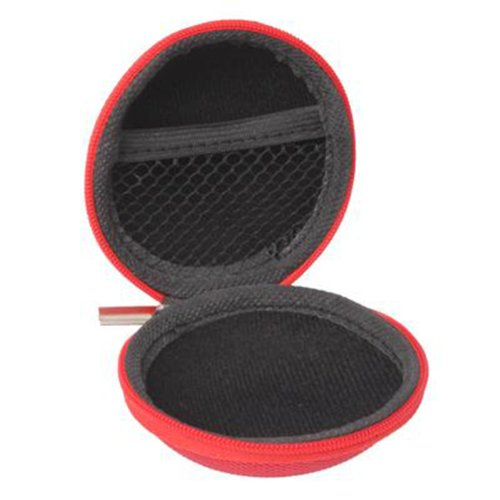 CrazyCase Earphone Carrying Box - Crazy Rot - Die praktische Transport Lösung für Ihre In-Ear...