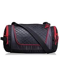 F Gear Astir Polyester 18 Ltrs Black Red Gym Duffle Bag