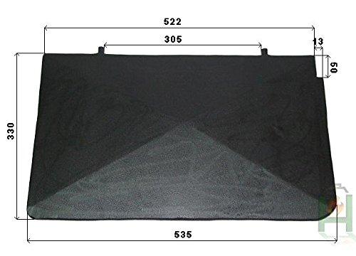 Deflettore stufa a legna in ghisa per stufa a carbone forno pietra forno | dimensioni: 535x 330mm