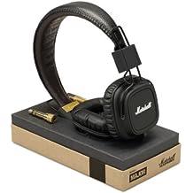 Marshall Major - Auriculares de diadema cerrados (con micrófono, control remoto integrado), negro