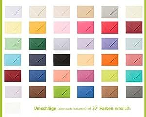 Karten & Co. Enveloppe haut de gamme, format B6 (125 x 176 mm), couleur au choix