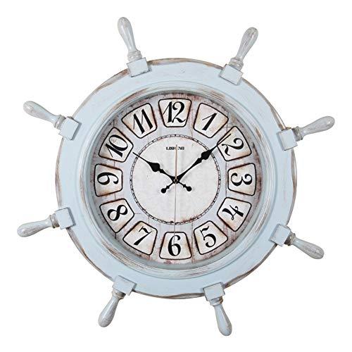 Wanduhr, Große Mittelmeer Ruder Stumm Wanduhr Wohnzimmer Uhr Hängen Tisch Schlafzimmer Uhr Kreative Quarzuhr (Color : #1)