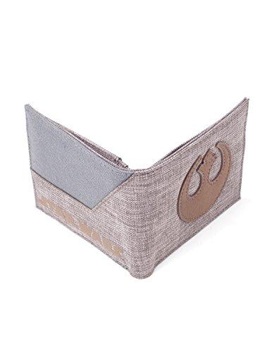 Offizielle Herren Star Wars Rebel Logo Denim Bi-Fold Brieftasche - Letzte Jedi
