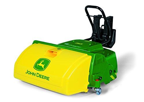 *Rolly Toys 409716 Kehrmaschine Sweeper John Deere; passend für Fahrzeuge mit Frontanhängekupplung; integrierter Auffangbehälter (geeignet für Kinder ab 3 Jahren; Farbe Gelb/Grün)*