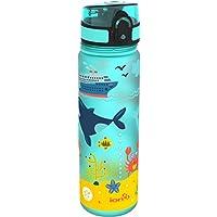 Ion8a Prueba de Fugas de mar Vida 'Slim Botella de Agua, sin BPA, 500ml/18onzas