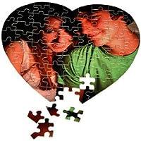 Individuelles Fotopuzzle / Herz Puzzle mit 76 Teile / 20x20cm / personalisiertes Geschenk