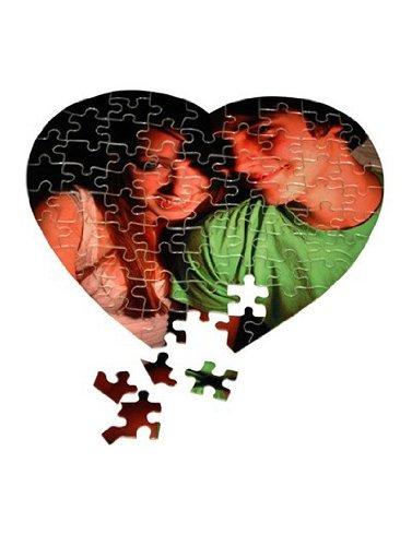 Individuelles Fotopuzzle / Herz Puzzle mit 76 Teile / 20x20cm / personalisiertes - Foto Puzzle