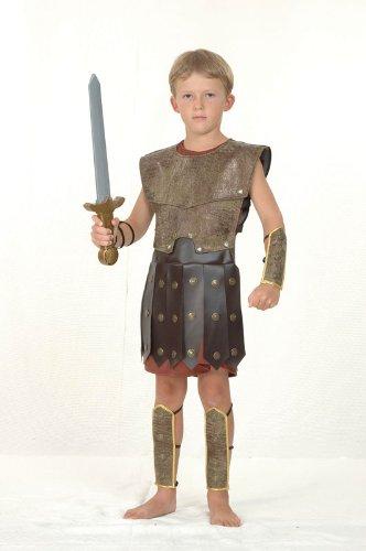 Imagen de disfraz de niño de soldado guerrero romano. 6  9 años