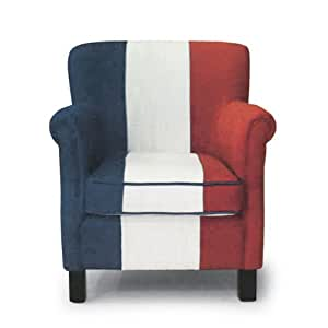 Poltrona bergere in legno e tessuto tricolore francese for Poltrona design amazon