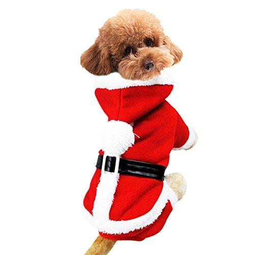 Pet Weihnachten HaustierMantel Kostüme Weihnachten Party Hunde Bekleidung Kapuzenpullover Tetrapod Kleidung Rot in Verschiedene (Sport Kostüme Verschiedene)